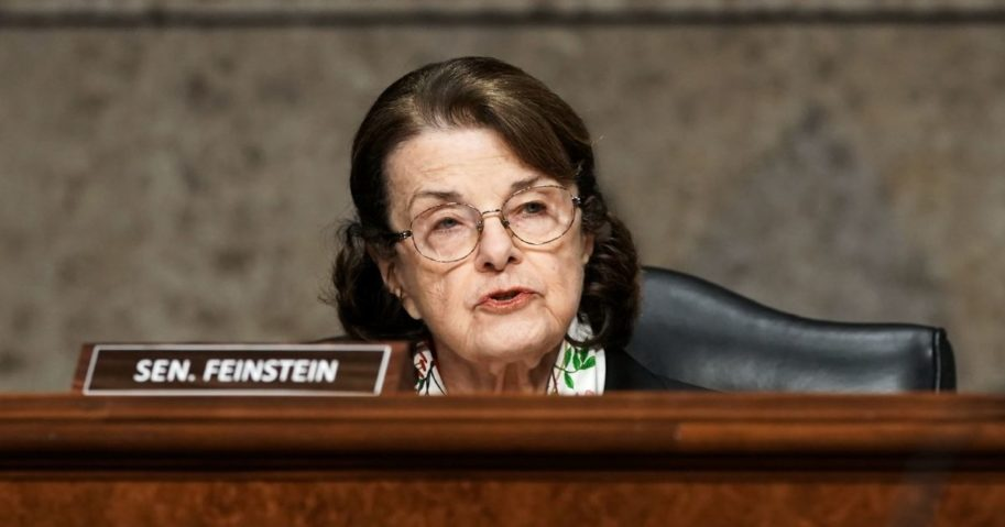 Democratic California Sen. Dianne Feinstein asks questions during a Senate Homeland Security and Governmental Affairs & Senate Rules and Administration joint hearing on March 3, 2021, in Washington, D.C.