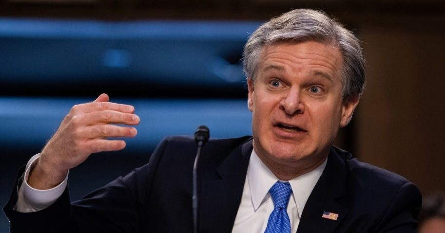 FBI Director Christopher Wray testifies Tuesday before the Senate Judiciary Committee in the Hart Senate Office Building on Capitol Hill in Washington.