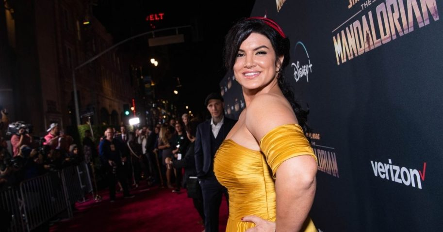 Gina Carano attends the premiere of Disney+'s 'The Mandalorian' at El Capitan Theatre on Nov. 13, 2019 in Los Angeles.