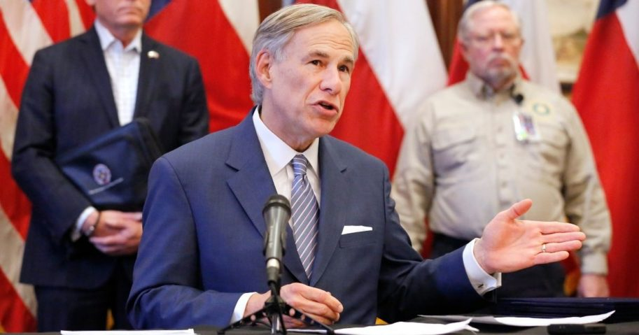 Texas Governor Greg Abbott announced the U.S. Army Corps of Engineers and the state are putting up a 250-bed field hospital at the Kay Bailey Hutchison Convention Center in downtown Dallas during a press conference at the Texas State Capitol in Austin, Texas, on March 29, 2020.