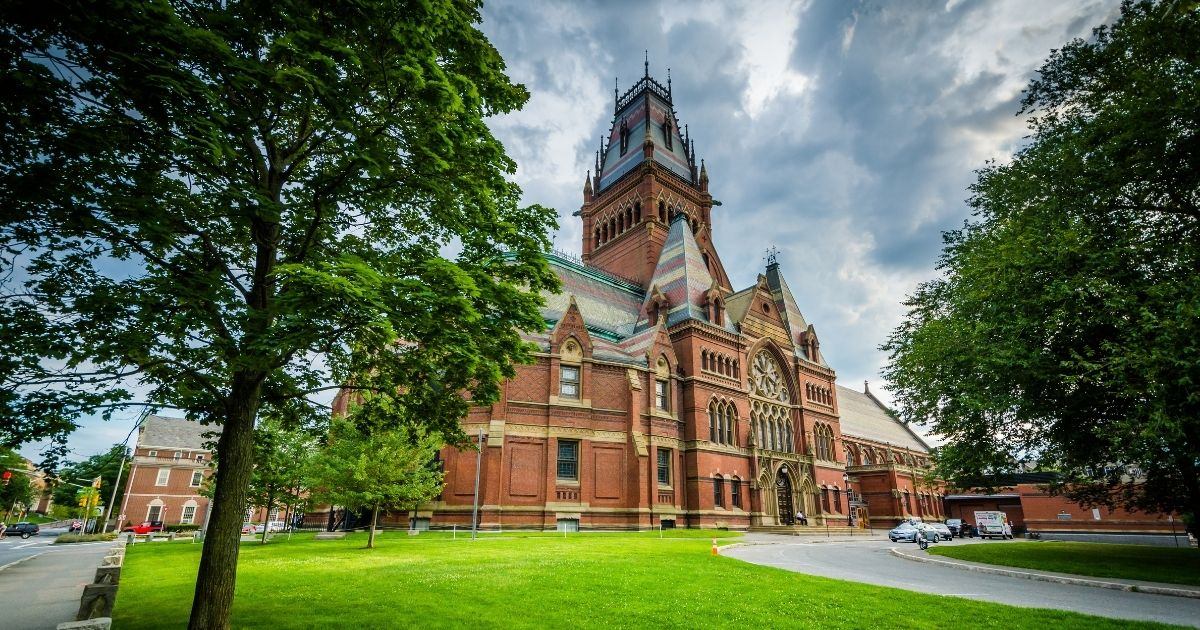 The Harvard Memorial Hall at Harvard University is seen in Cambridge, Massachusetts.