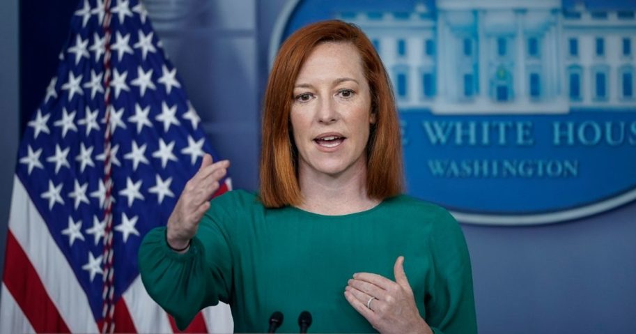 White House Press Secretary Jen Psaki speaks during the daily media briefing at the White House on March 15, 2021, in Washington, D.C.