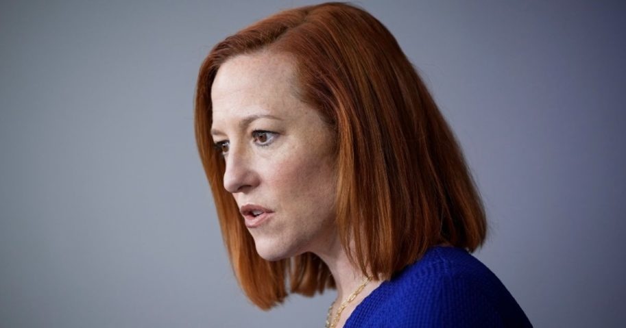 White House press secretary Jen Psaki speaks during the daily news briefing at the White House on Wednesday in Washington, D.C.