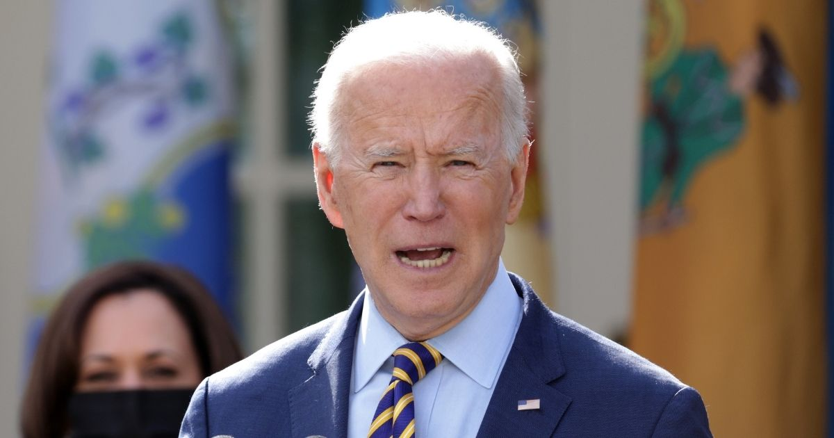 President Joe Biden speaks during a news conference on the American Rescue Plan in the Rose Garden of the White House in Washington, D.C., on Friday.