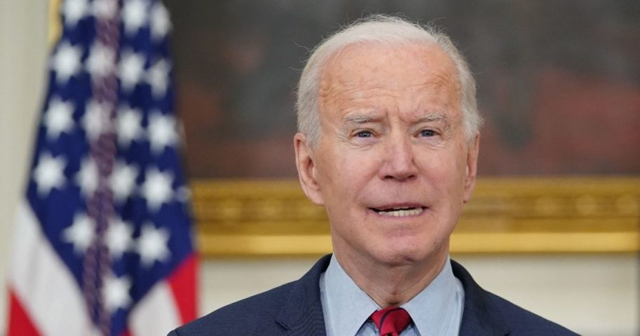 President Joe Biden speaks about the Colorado shootings in the State Dining Room of the White House in Washington, D.C., on Tuesday.