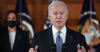 President Joe Biden speaks during a listening session at Emory University in Atlanta on Friday.
