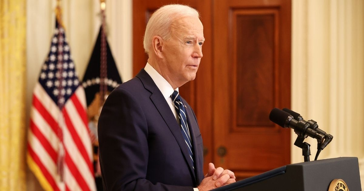President Joe Biden answers questions during the first news conference of his presidency in the East Room of the White House on Thursday in Washington, D.C.