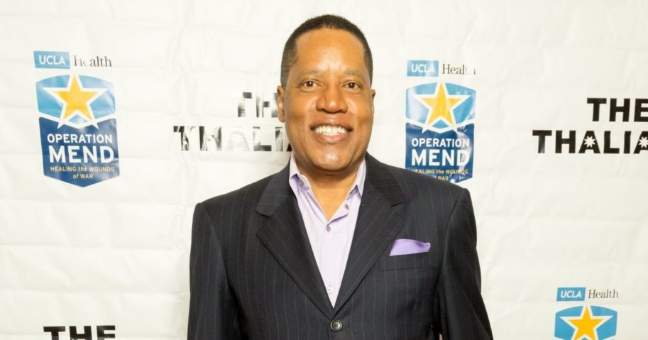 "Conservative radio host Larry Elder arrives for The Thalians Presidents Club's ""Holiday Brunch Spectacular"" at Montage Beverly Hills on Dec. 4, 2016, in Beverly Hills, California."