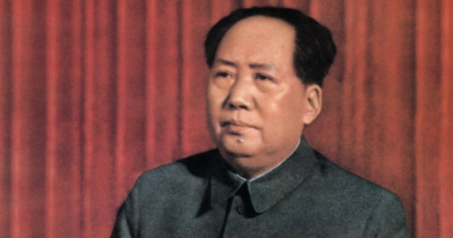 "Mao Zedong, chairman of the Chinese Communist Party from 1935 until his death in 1976, delivers a speech ""about correctly handling contradiction among the people"" at the standing committee of the State Council in Beijing in 1957."