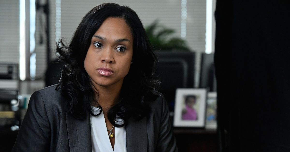 State's Attorney for Baltimore Marilyn J. Mosby is interviewed by Shoshana Guy, Senior Producer NBC News (not pictured) on Aug. 24, 2016, in Baltimore.