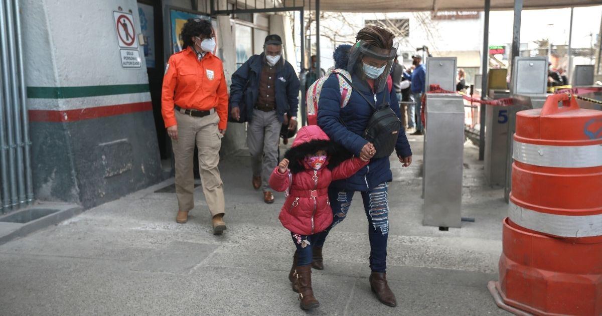 Migrants cross the border from Ciudad Juarez, Mexico, into El Paso, Texas, on Feb. 26.