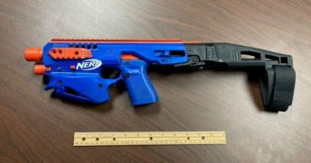 In a narcotics raid, police in North Carolina found a gun altered to look like a Nerf gun.