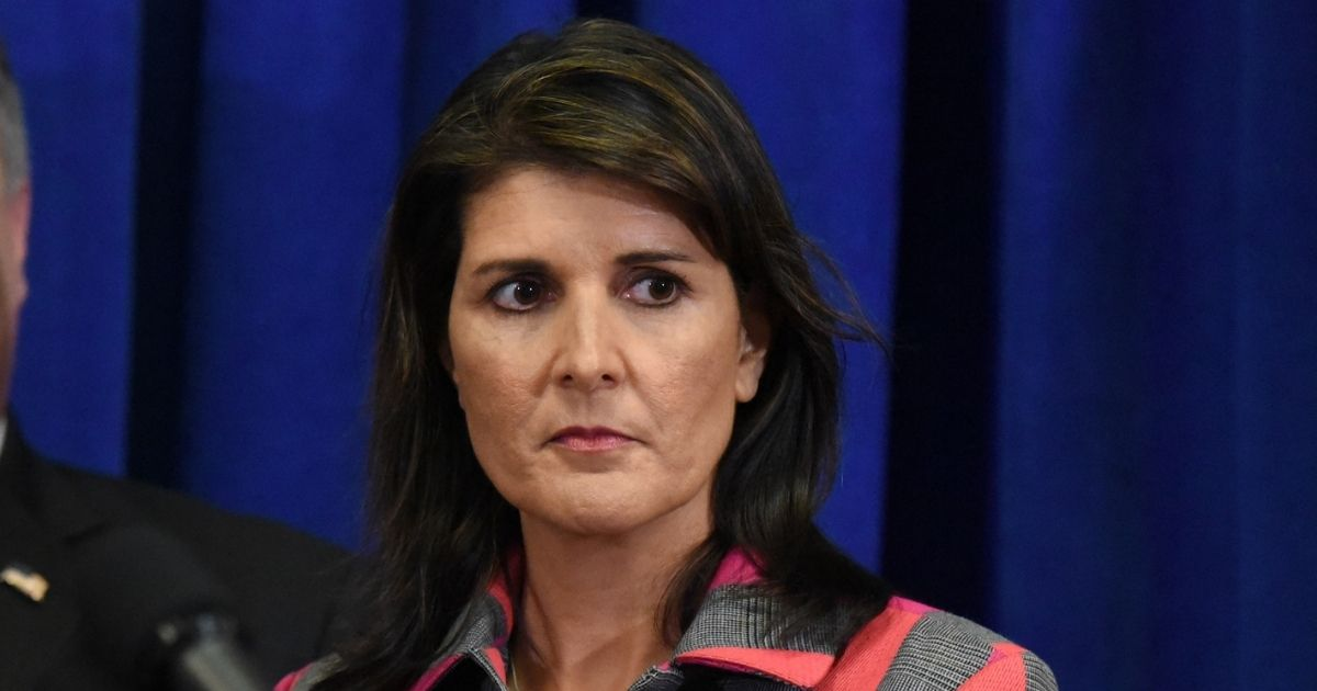 Former U.S. Ambassador to the United Nations Nikki Haley briefs the media during the United Nations General Assembly on Sept. 24, 2018, in New York City.