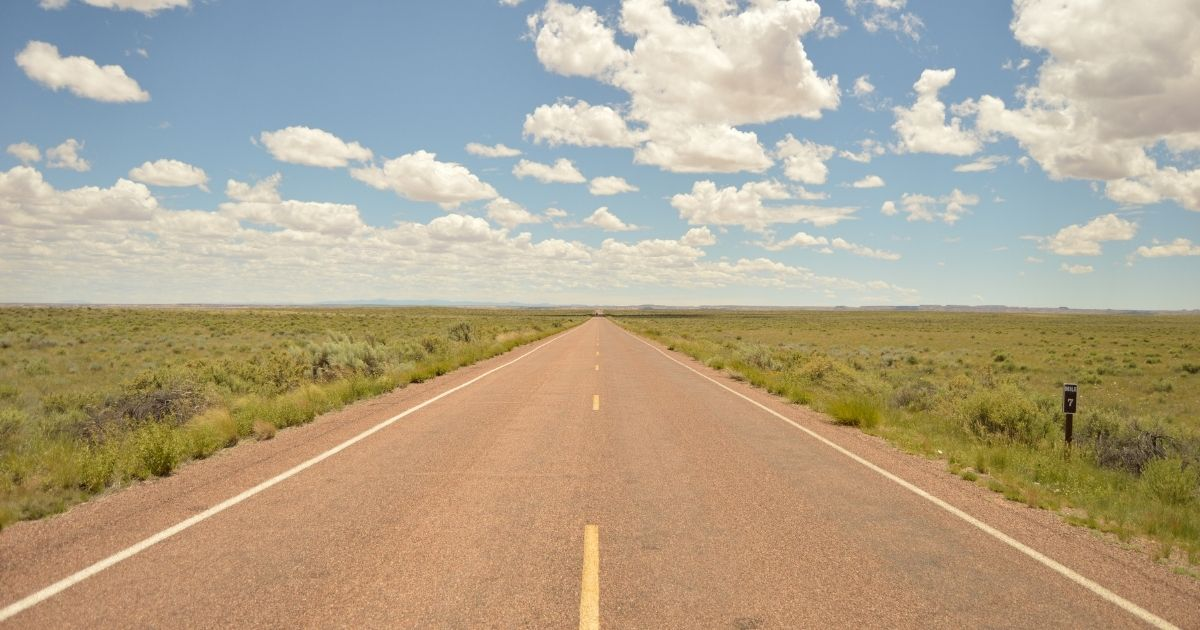 An open highway in Oklahoma is pictured in the stock image above.