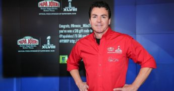 John H. Schnatter, the founder, chairman and CEO of Papa John's International, Inc., rings the NASDAQ Opening Bell at NASDAQ MarketSite on Jan. 31, 2014, in New York City.