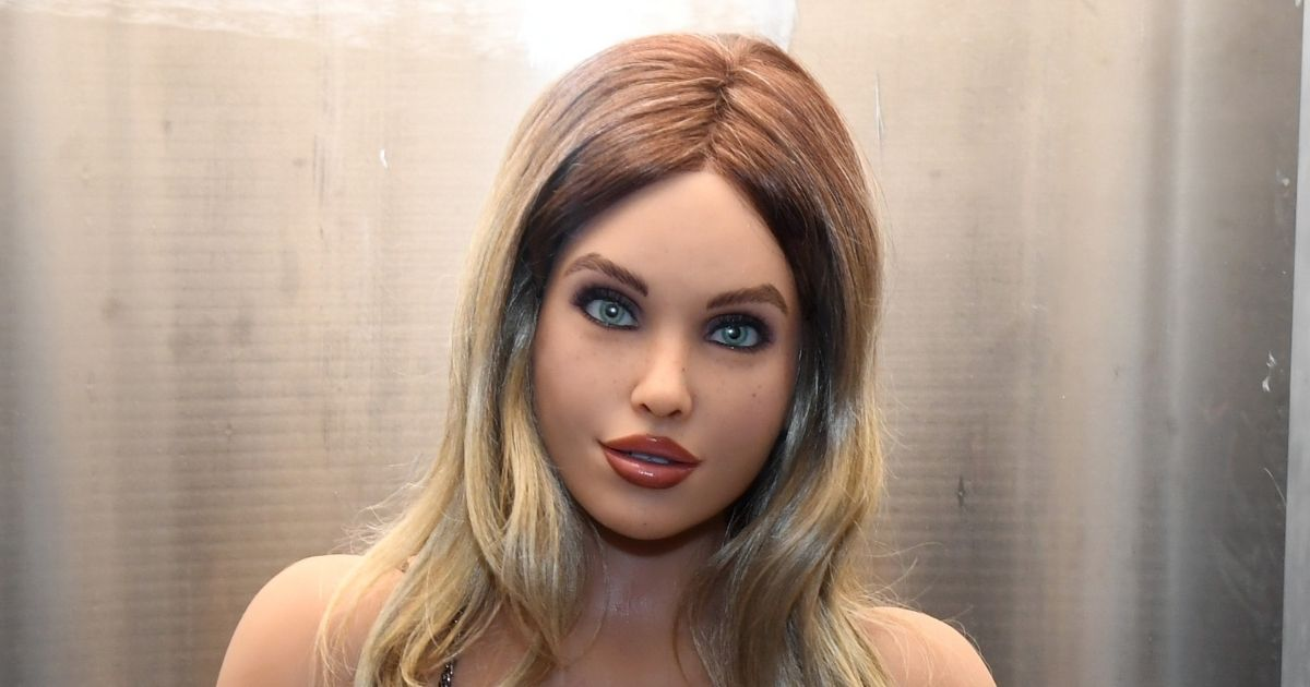 A Harmony RealDoll customizable sex robot is displayed at the 2020 AVN Adult Entertainment Expo at the Hard Rock Hotel & Casino on Jan. 22, 2020, in Las Vegas, Nevada.