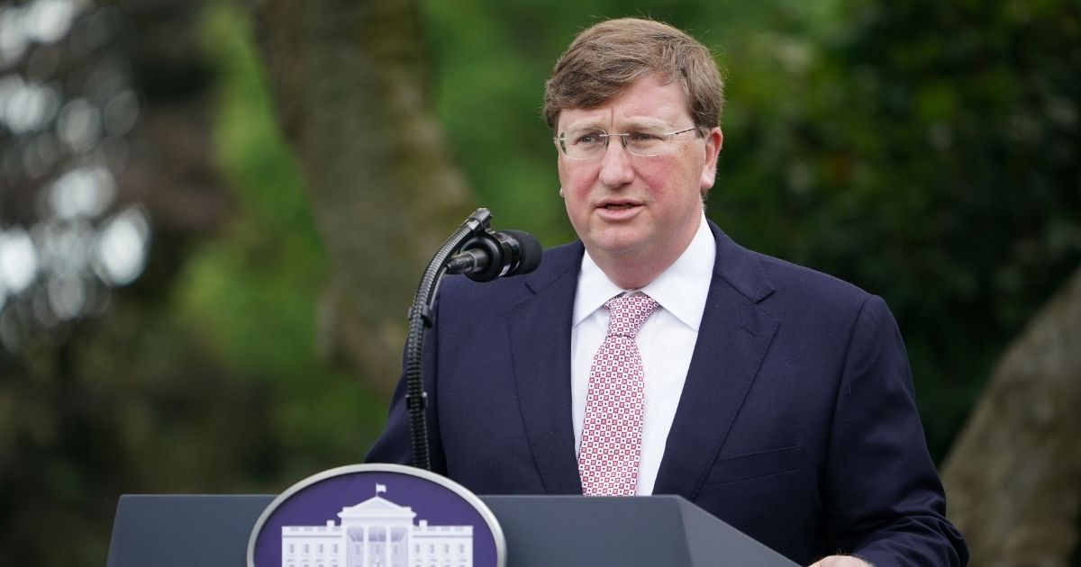 Mississippi Gov. Tate Reeves speaks on Covid-19 testing in the Rose Garden of the White House in Washington, DC on Sept. 28, 2020.