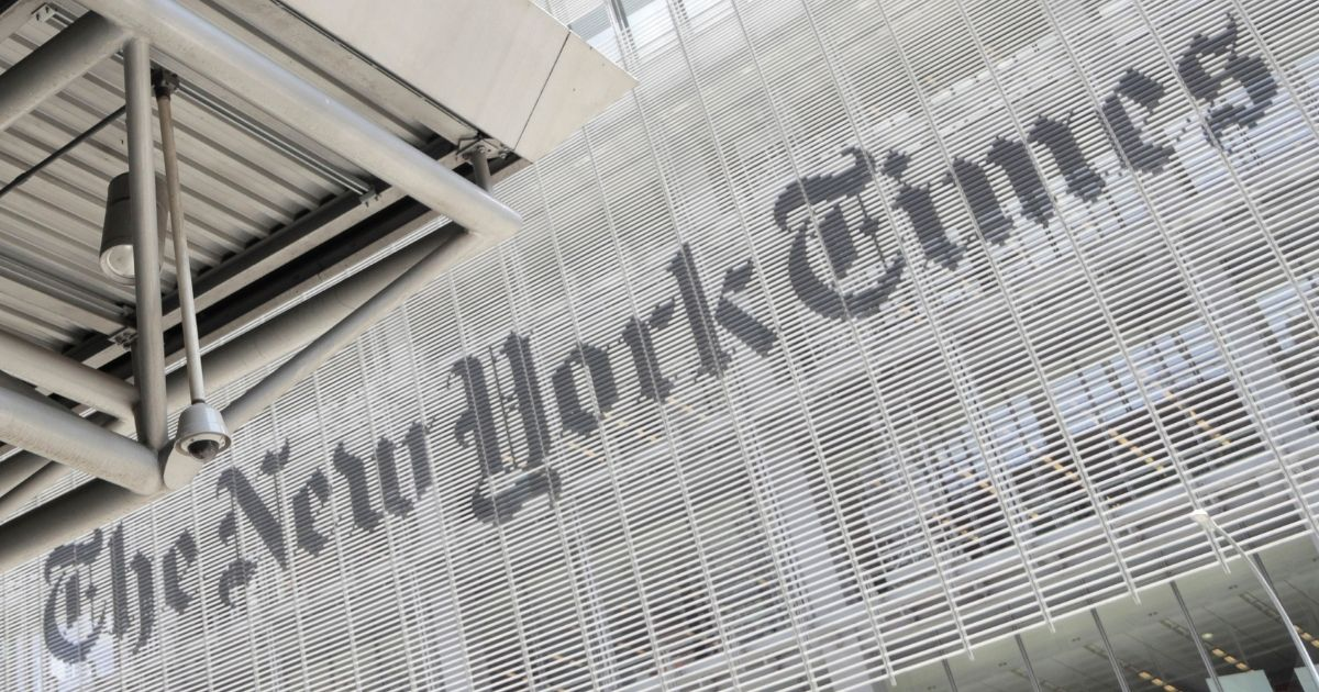 The exterior of the New York Times building is seen in New York City on June 22, 2019.