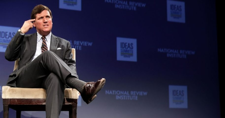 Fox News host Tucker Carlson discusses 'Populism and the Right' during the National Review Institute's Ideas Summit at the Mandarin Oriental Hotel March 29, 2019, in Washington, D.C.