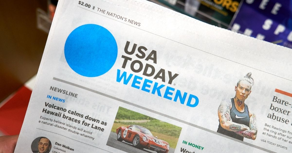 A USA Today newspaper is pictured in the stock image above.