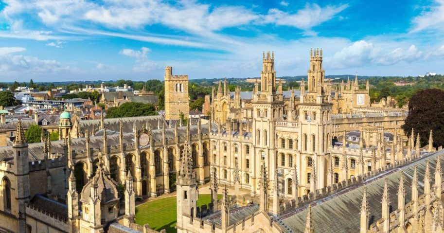 All Souls College at the University of Oxford in Oxford, England, is pictured in the stock image above.