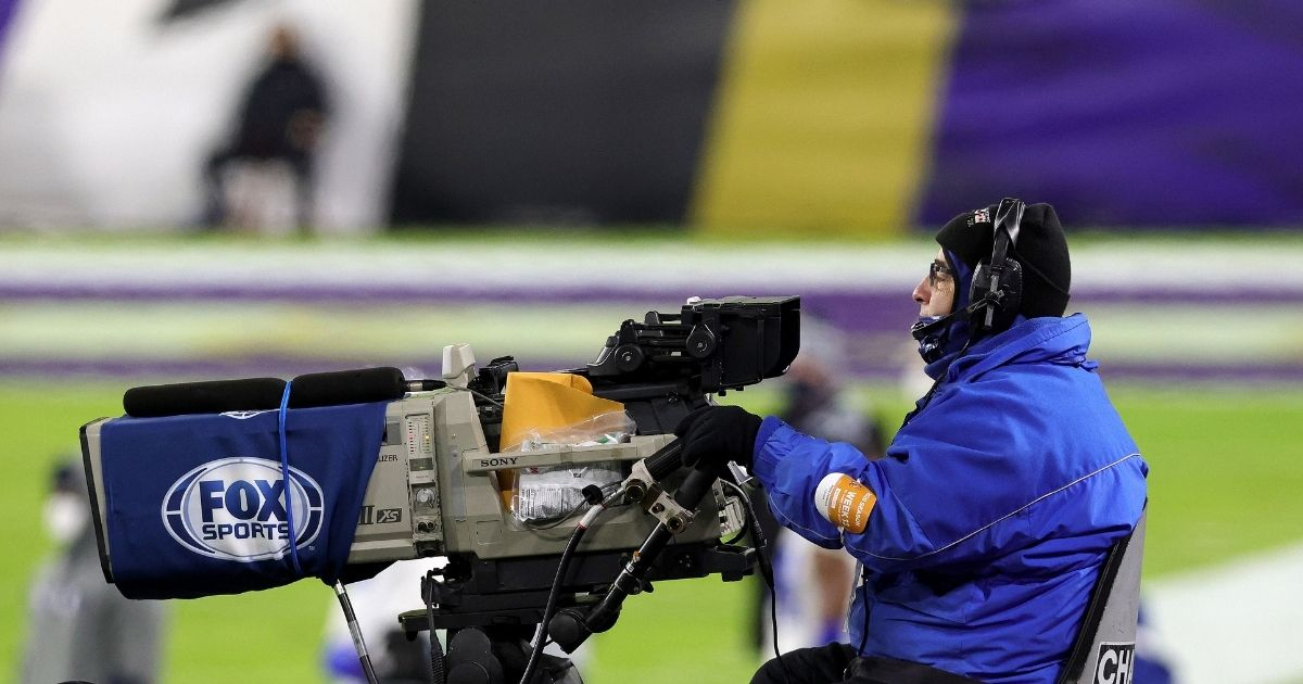 Fox Sports televises the NFL game between the Baltimore Ravens and Dallas Cowboys in Baltimore on Dec. 3, 2020.