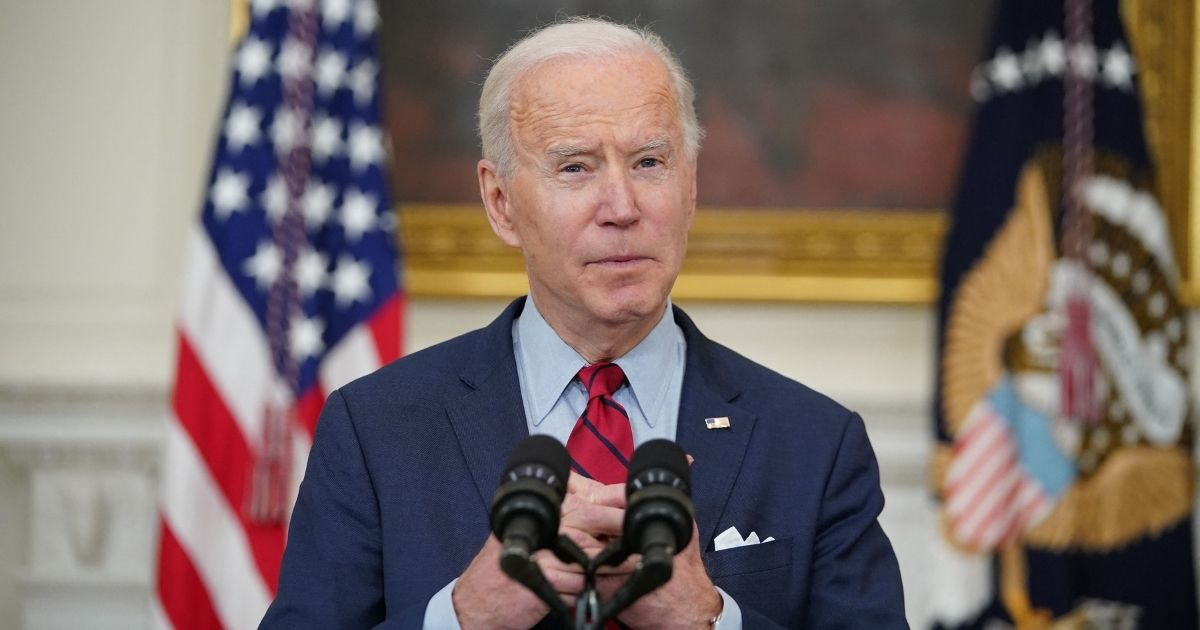President Joe Biden speaks at the White House on Tuesday after Monday's mass shooting in Boulder, Colorado.