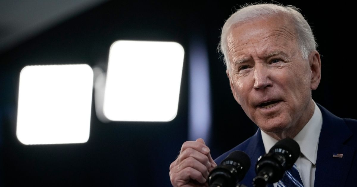 President Joe Biden delivers remarks in the South Court Auditorium at the White House complex on Monday in Washington, D.C.