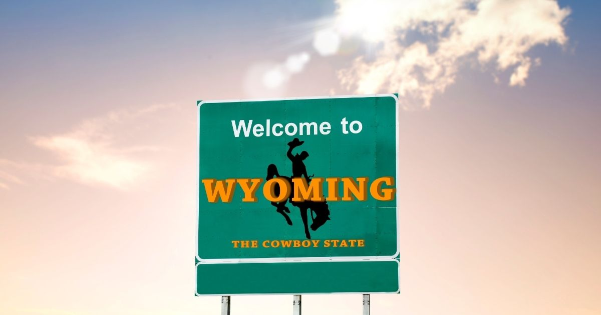 This stock photo shows a billboard that can be seen upon entering the state of Wyoming. The Wyoming Senate voted against SF0150, a measure that proposed repealing the state's death penalty, in a 19-11 vote on Thursday.