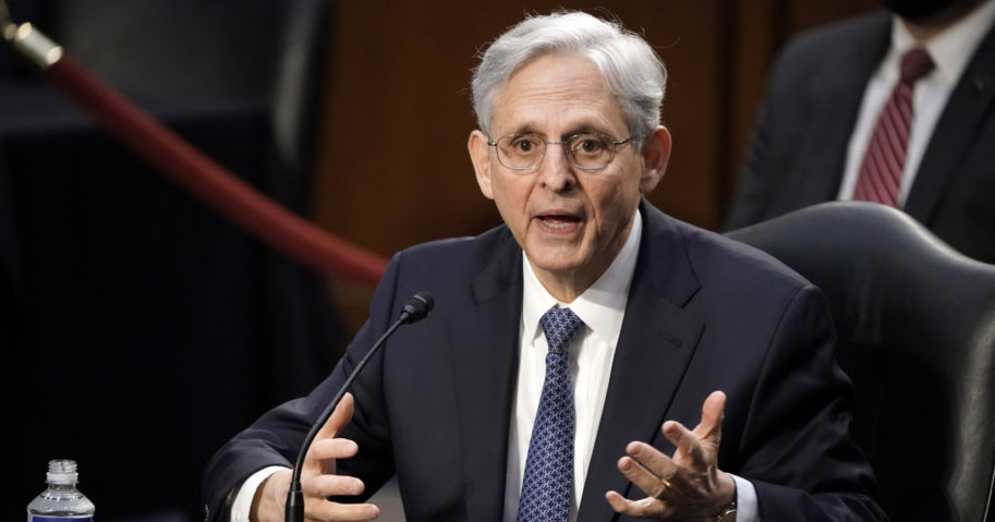 Merrick Garland, President Joe Biden's pick for attorney general, appears before the Senate Judiciary Committee for his confirmation hearing on Capitol Hill in Washington, D.C., on Feb. 22, 2021.