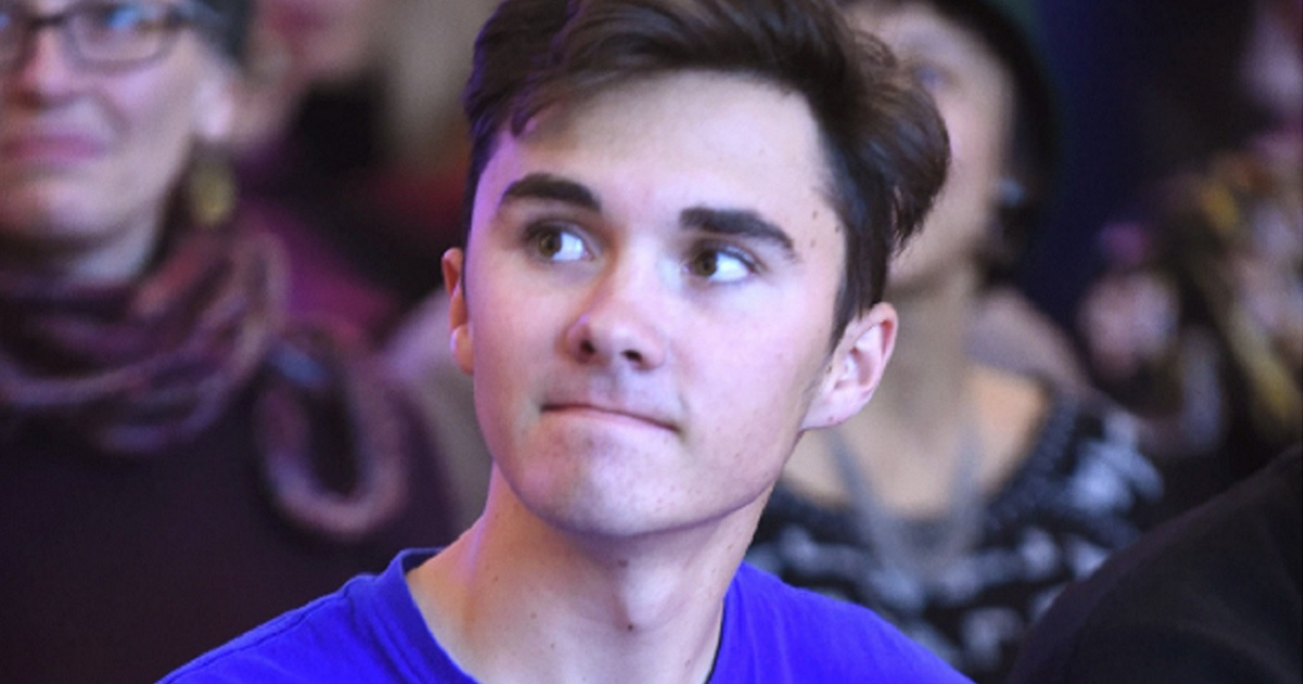 """Anti-gun activist David Hogg is pictured during a """"Peace Week Town Hall"""" in January 2019 i New York City."""