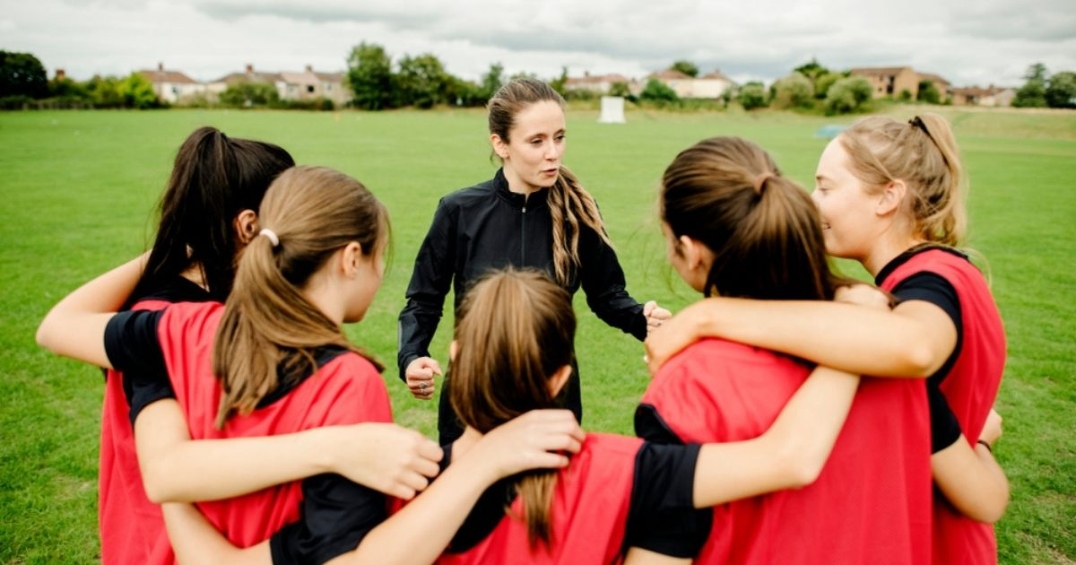 A group of young female athletes is seen in the above stock image.