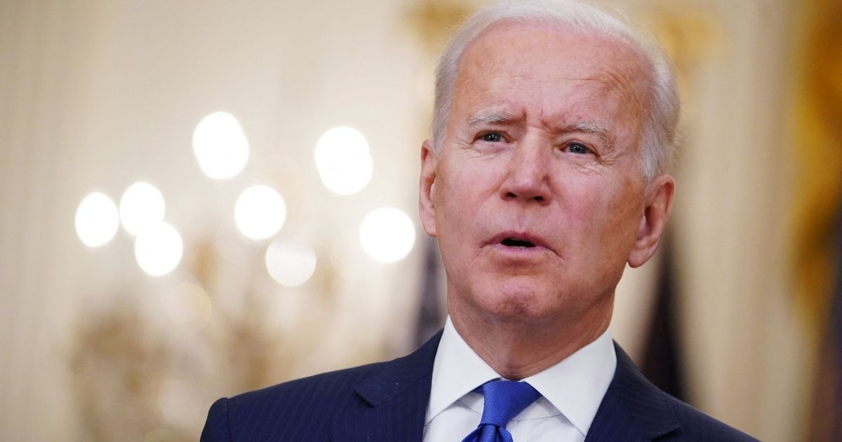 President Joe Biden speaks in the East Room of the White House in Washington, D.C., on March 8, 2021.