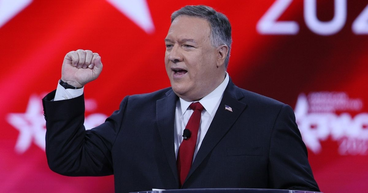 Former Secretary of State Mike Pompeo addresses the Conservative Political Action Conference on Feb. 27, 2021, in Orlando, Florida.