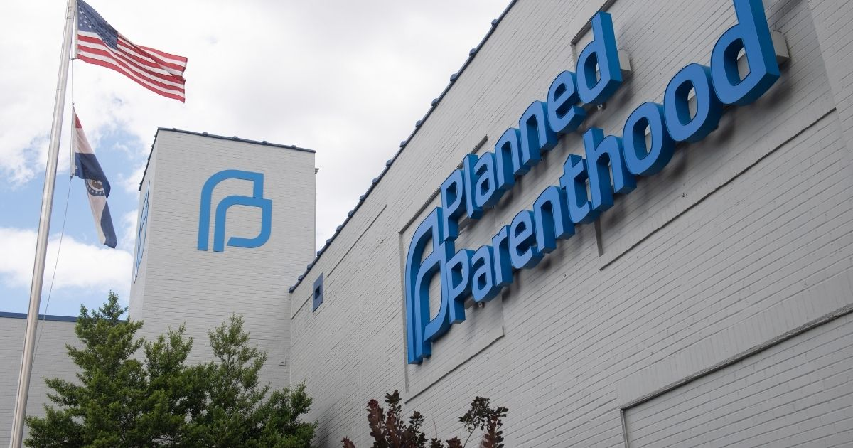 The outside of a Planned Parenthood clinic is seen in St. Louis, Missouri, on May 30, 2019.