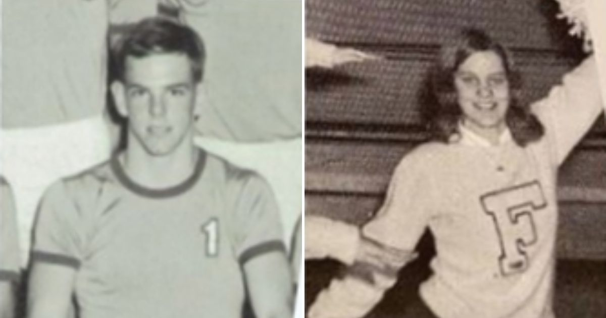 Joe Cougill and Donna Horn when they were in high school.