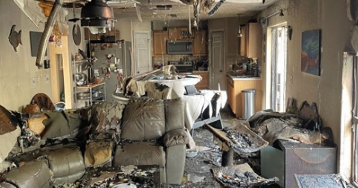 Inside of home destroyed by fire