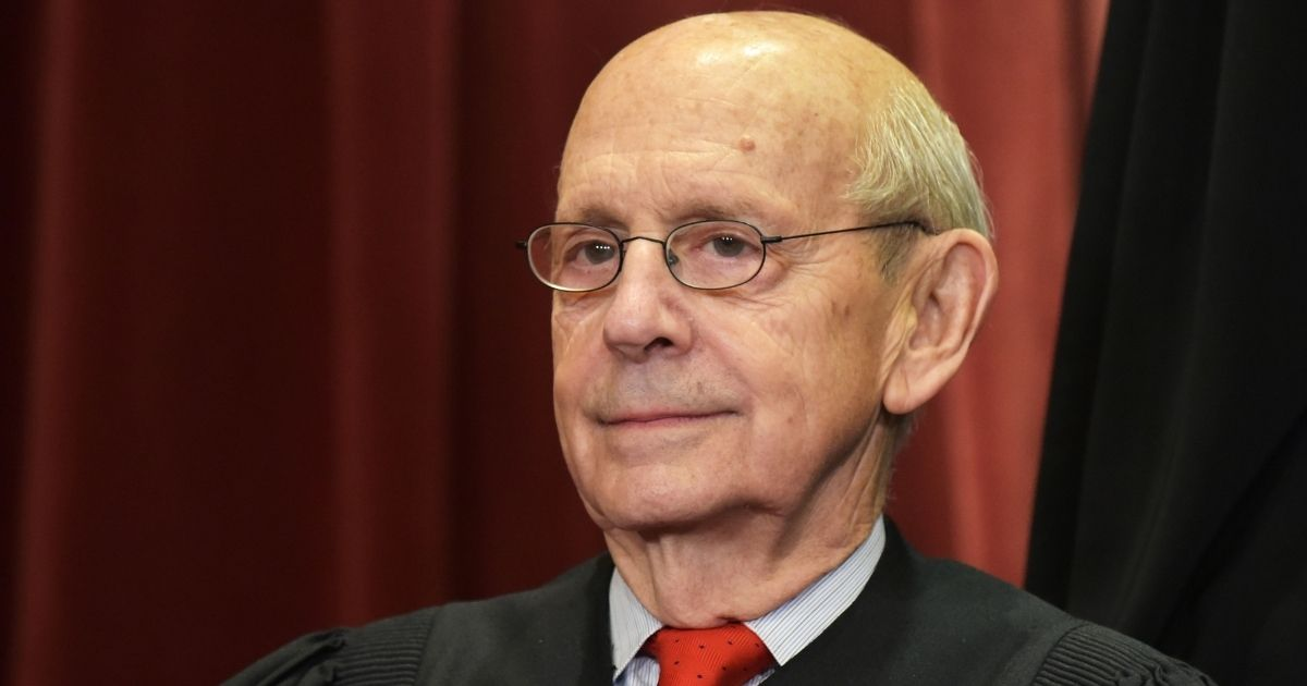 Justice Stephen Breyer poses for the Supreme Court's official group photo at the Supreme Court in Washington, D.C., on Nov. 30, 2018.