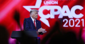 Former President Donald Trump addresses the Conservative Political Action Conference on Feb. 28, 2021, in Orlando, Florida.