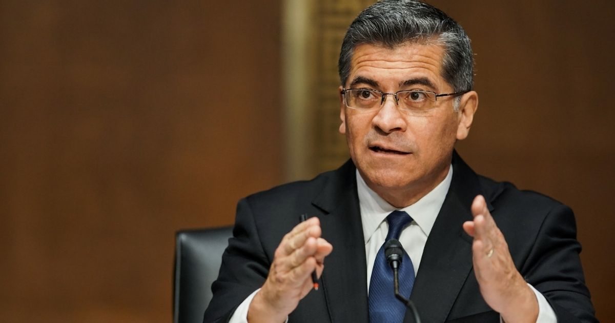Xavier Becerra, President Joe Biden's nominee for health secretary, answers questions during his confirmation hearing before the Senate Finance Committee on Capitol Hill on Feb. 24, 2021, in Washington, D.C.