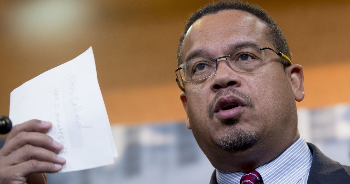 Minnesota Attorney General Keith Ellison attends a news conference with the Congressional Progressive Caucus on Capitol Hill in Washington, D.C., on Dec. 8, 2016.