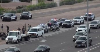 A van of 17 illegal immigrants were discovered after an officer conducted a traffic stop early Friday morning in Chandler, Arizona.
