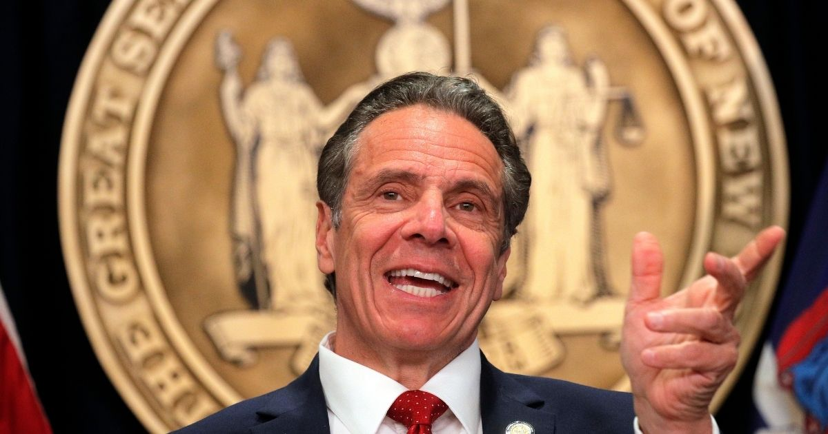 Democratic New York Gov. Andrew Cuomo speaks during a news conference at his office on March 24 in New York City. Cuomo gave an update on the state's COVID-19 response and took questions from the media.