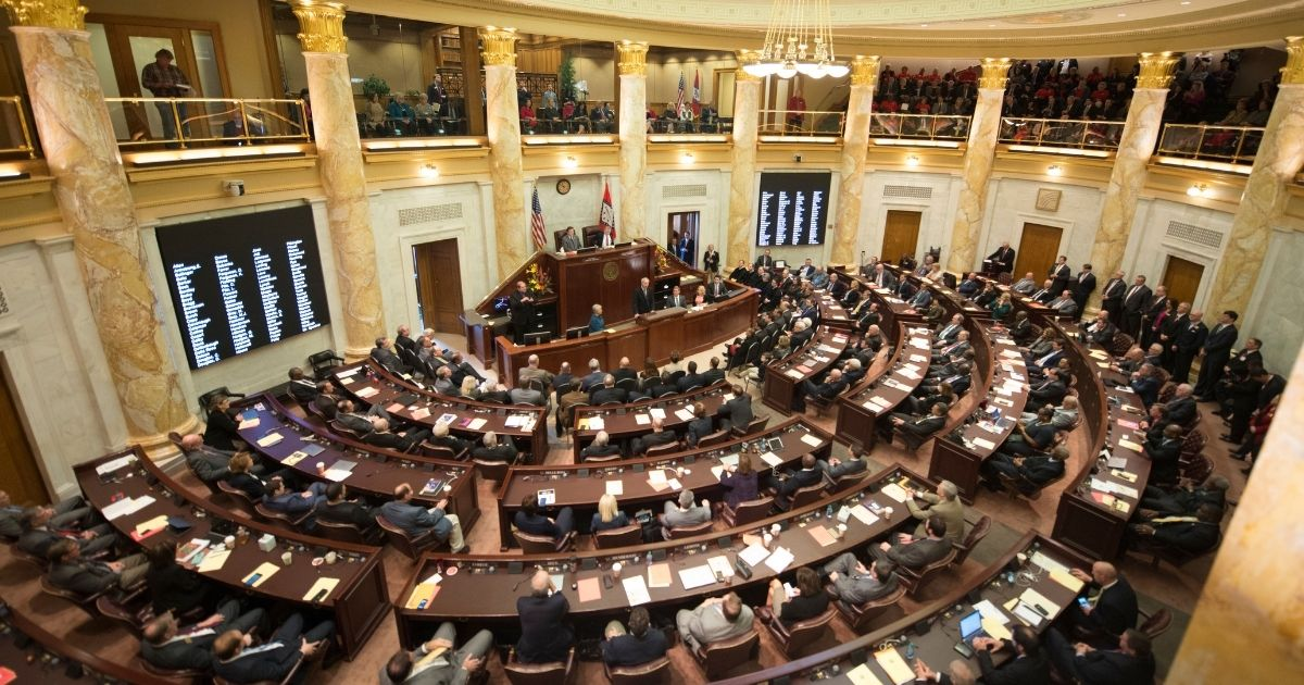 The Arkansas General Assembly meets in a joint session in Little Rock on Jan. 10, 2017.