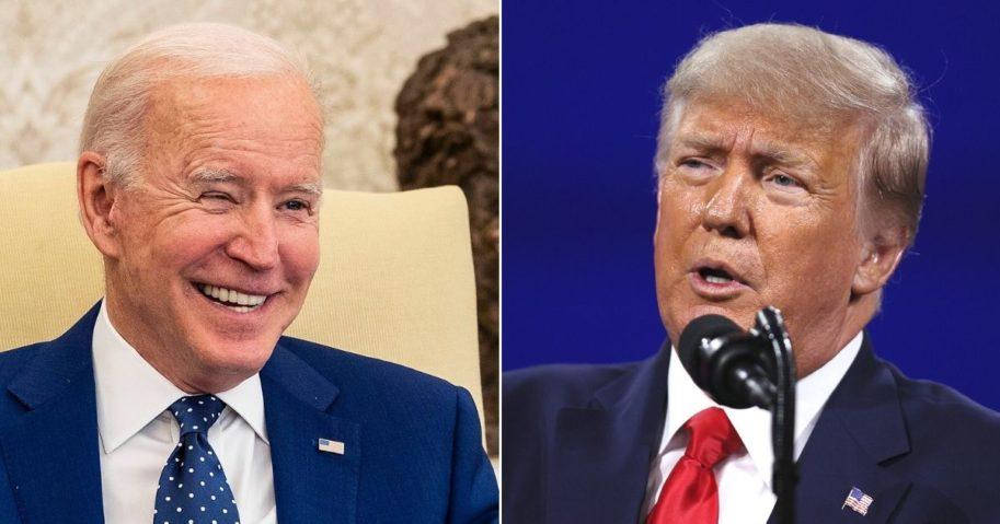President Joe Biden, left, and former President Donald Trump, right.