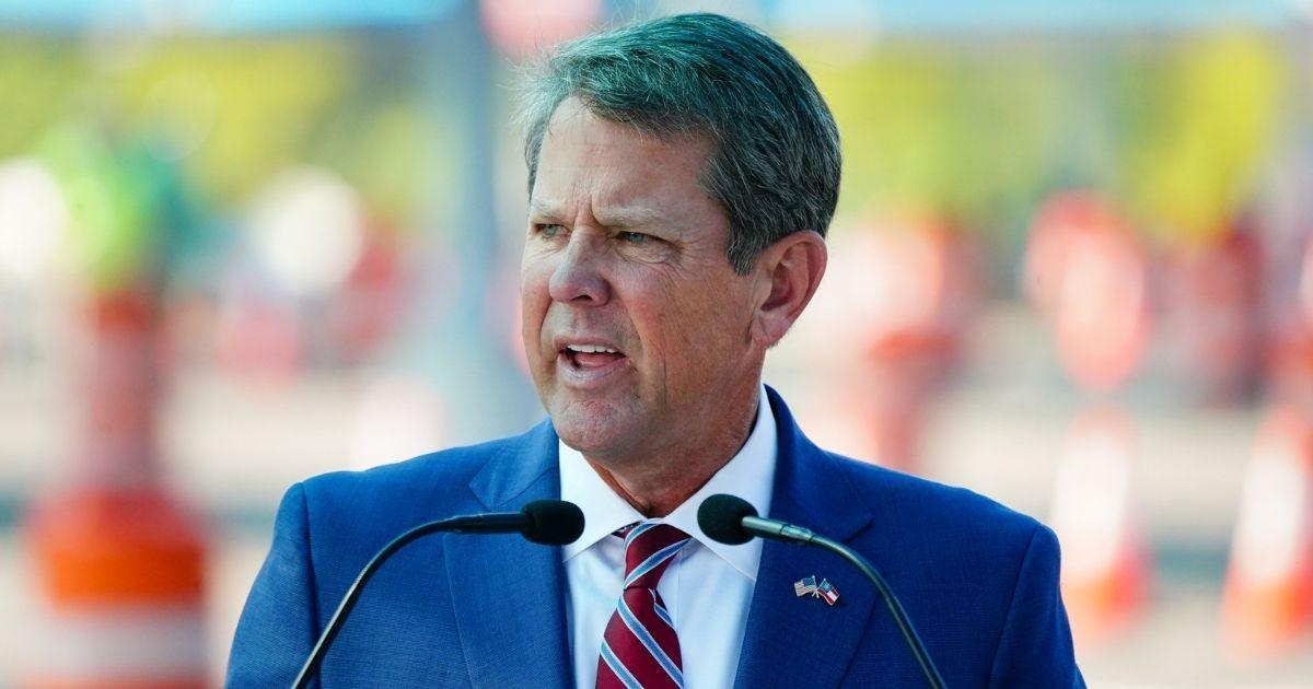 Republican Georgia Gov. Brian Kemp speaks during a press conference on Aug.10, 2020, in Atlanta.