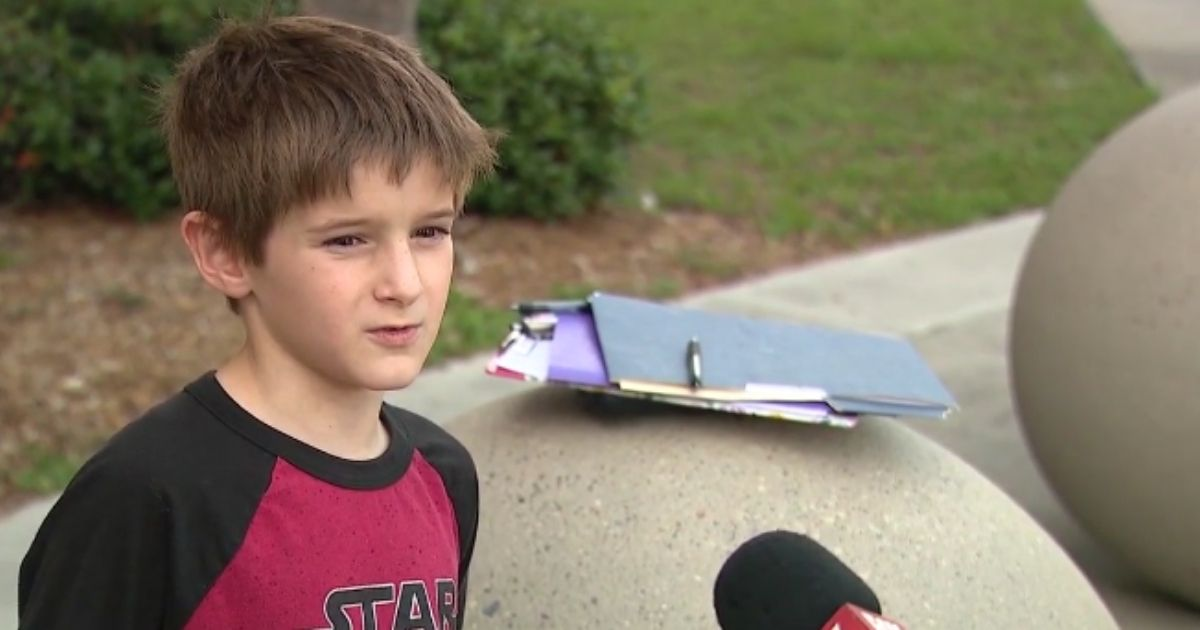 In just four days, eight-year-old Charlie raised 400 signatures for his petition to end mask mandates at his school.