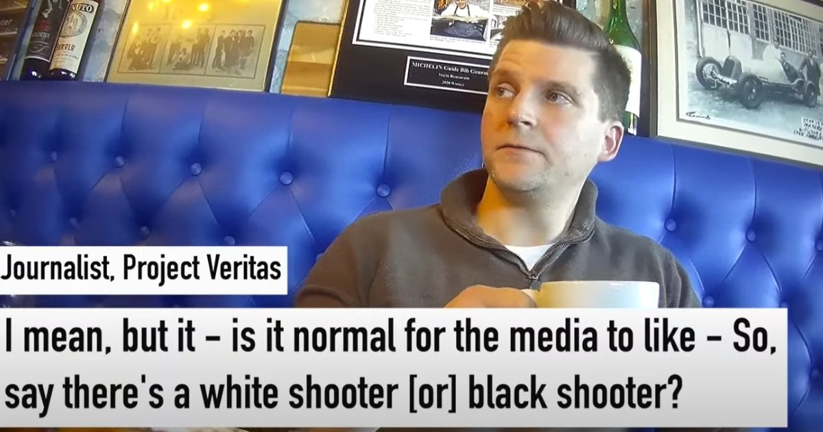 CNN's Charles Chester talks to a Project Veritas reporter.