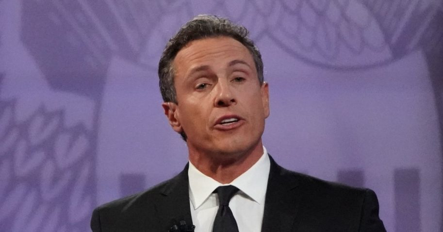 CNN's Chris Cuomo lookson at the Human Rights Campaign Foundation in Los Angeles on Oct. 10, 2019.