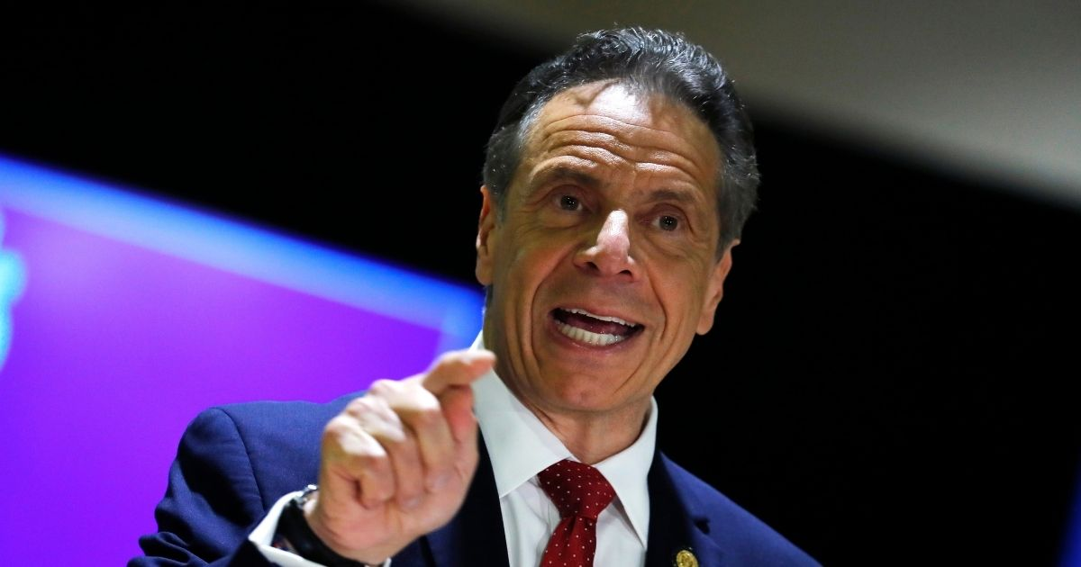 New York Governor Andrew Cuomo speaks at an event to announce five new walk-in pop-up vaccination sites for New York City Bodega, grocery store and supermarket workers amid the coronavirus disease on Friday in New York City.